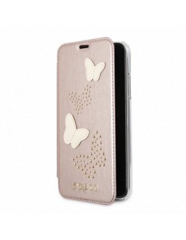 Guess butterflies rose gold case