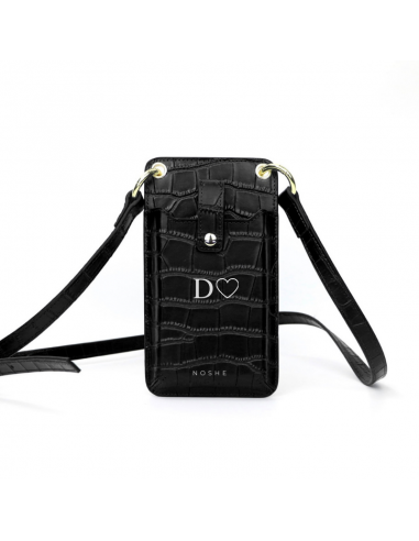 MONOGRAM PHONE BAG BLACK