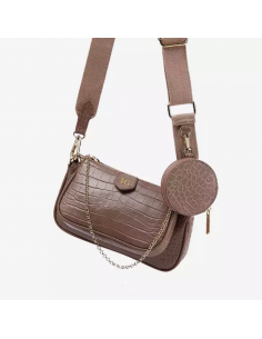 CROSSBODY LEATHER BAG BEIGE