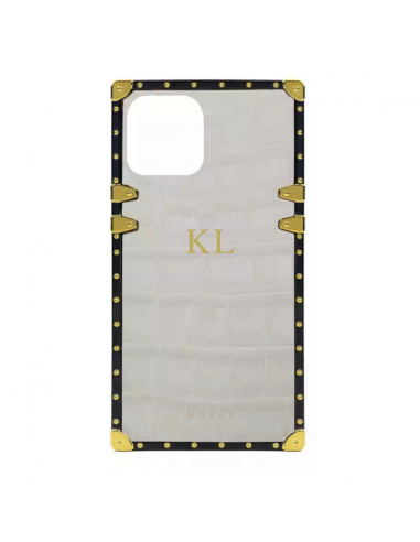 Solid Beige Monogram Case